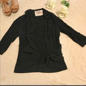 Black rayon cardigan with pockets